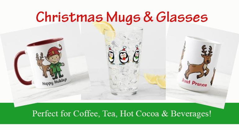 Christmas Mugs and Glassware
