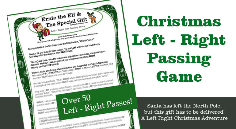 Ernies Christmas Left Right Story Game