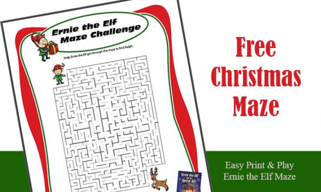 Free Printable Maze for Christmas Holiday Season