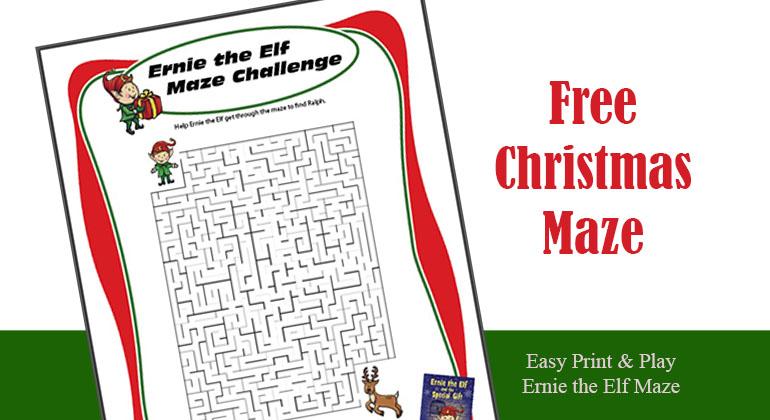 Free Printable Maze for Christmas Holiday Season