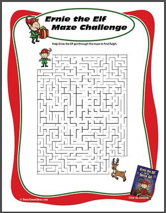 Free Printable Maze for Kids Christmas Events
