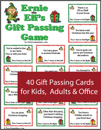 Gift Passing Gift Exchange Game
