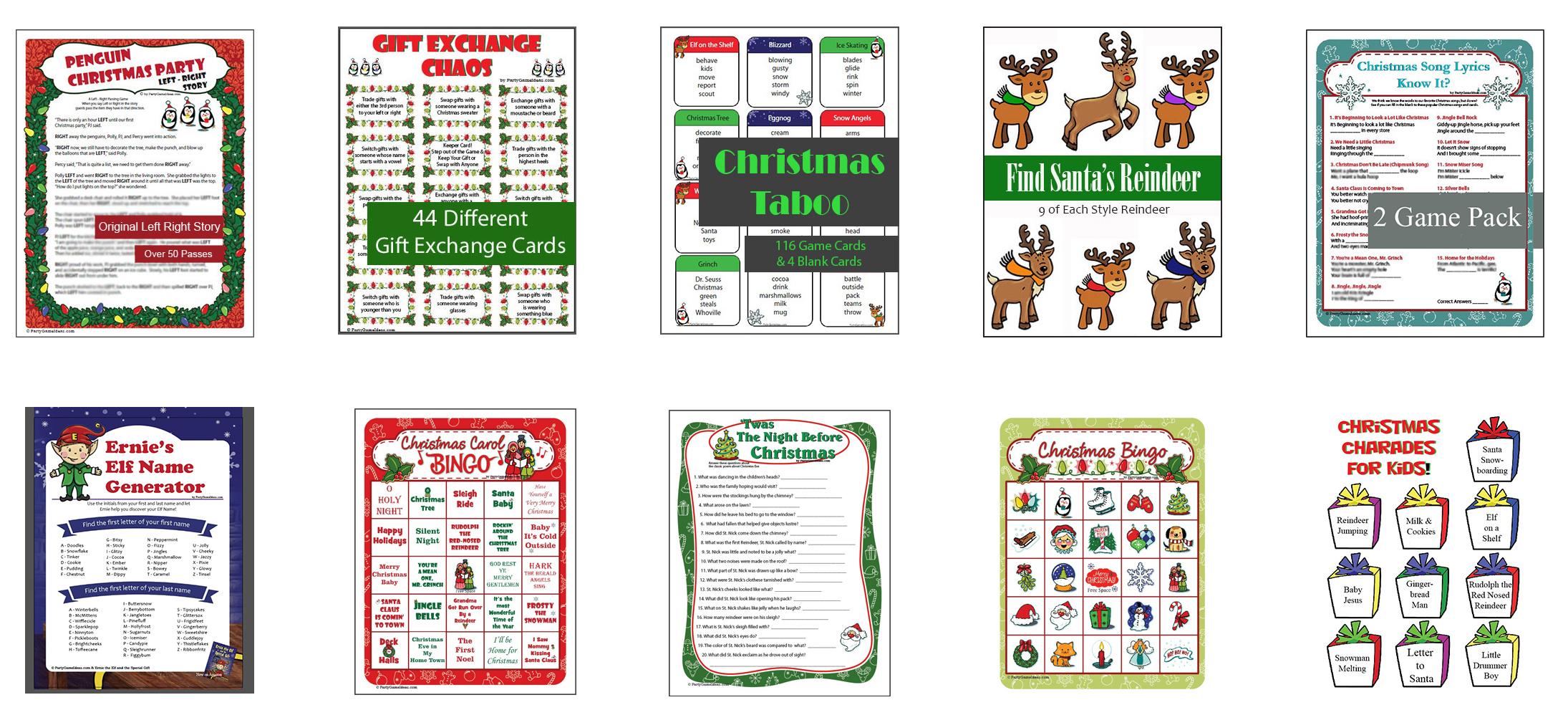 PGI Printable Christmas Games